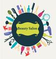 Hair Beauty salon background- vector image