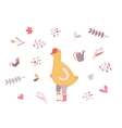 Love goose and gardening staff vector image