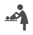 Mother swaddles the baby pictogram flat icon vector image