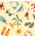 Seamless summer background vector image