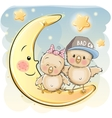 Two Cute Chiks vector image