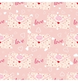 Wedding seamless pattern with letter decorated vector image
