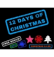 12 Days Of Christmas Rubber Stamp vector image