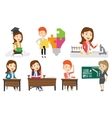 set of student and teachers characters vector image