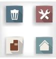 Abstract social media bottons flat design vector image