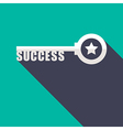 Key to Success minimal style concept vector image vector image
