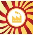 Factory abstract icon vector image
