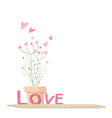 Love flowers design on white background vector image vector image