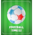 Football ball on field vector image