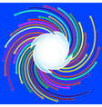 blue background with colored arrows vector image