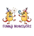 Cartoon Party Monsters Set vector image