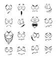 Human cartoon emoticon faces with expressions vector image