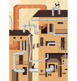 industrial city vector image