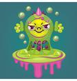 little cartoon virus vector image