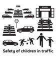 Safety of children in traffic vector image