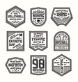 Set of sports badges vector image