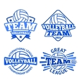 Set of volleyball badges logo templates vector image