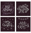 Xmas Chalk Lettering on the Blackboard vector image vector image