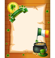 An empty paper template for St Patricks day vector image vector image