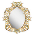 classic vintage frame decor detailed ornament vector image