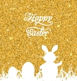 Abstract Easter Sparkle Background with Rabbit vector image