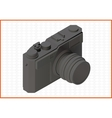 Photocamera isometric flat 3d vector image