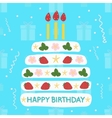 icons cake with candles vector image