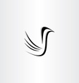 black bird icon stylized vector image
