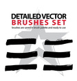 Collection of ink hand drawn brushes scanned and vector image