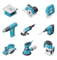 Construction electric tools icon set vector image