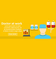 doctor at work banner horizontal concept vector image
