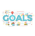 goal word in business concept vector image
