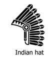 indian hat icon simple black style vector image