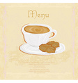 menu coffee shop vector image