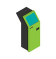 payment terminal isometric flat isolated vector image