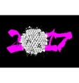 Abstract number 2017 and golf ball vector image