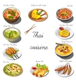 Thai cuisine set Collection of food dishes vector image