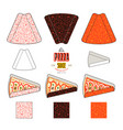 stock design of package for pizza slices vector image