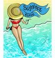 vintage pop art summer time vector image
