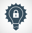 Intellectual property icon - light bulb and vector image