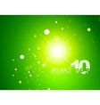 green shiny sky background vector image vector image