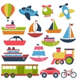 Colorful transport icons collection vector image vector image