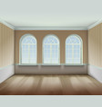 Room With Arched Windows vector image