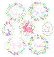 a set of easter wreaths vector image