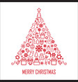 christmas greeting card 2 vector image
