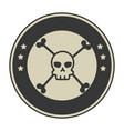 extreme skull with emblem vector image