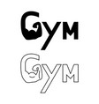 hand of gym set logo vector image