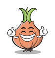 Proud face onion character cartoon vector image