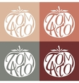 Set of logos with tomato vector image
