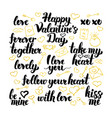 valentines day hand drawn lettering vector image